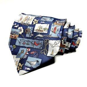 Salvatore Ferragamo Nautical Pattern Tie
